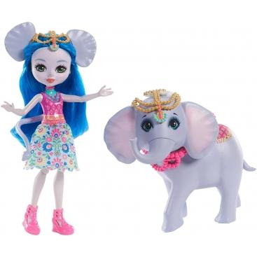 Кукла Enchantimals Катерина и друг слоненок