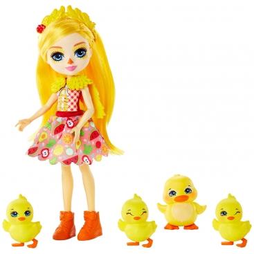 Кукла Enchantimals Дина Дак с уткой Слош и утятами