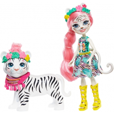 Кукла Enchantimals Белый тигр Тэдли и Китти