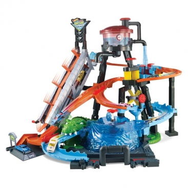 Игровой набор Hot Wheels Взрыв цветов Водонапорная башня